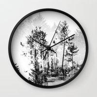 woodland Wall Clocks featuring Woodland by Schwebewesen • Romina Lutz