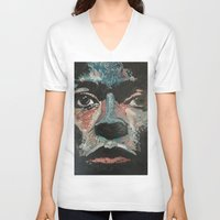 miles davis V-neck T-shirts featuring Kind of Blue Miles by Matt Pecson