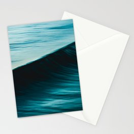 Blurred deep blue ocean swell wave California Stationery Cards
