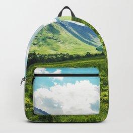 Lush Vegetation Mountain Valley  Backpack