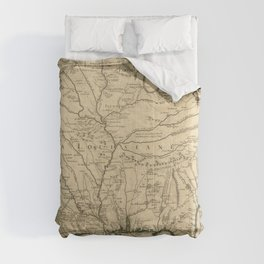 Map of America from Rio Grande River to Hudson River (1718) Comforters