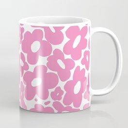 60s 70s Hippy Flowers Pink Coffee Mug
