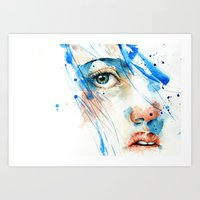 blues Art Prints featuring Blues by Jenny Viljaniemi