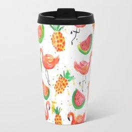 Flamingo Watermelon Travel Mug