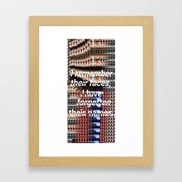 For·get·ful·ness Framed Art Print