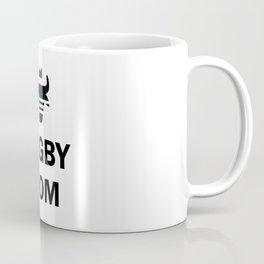 B&W Rugby Mom Coffee Mug