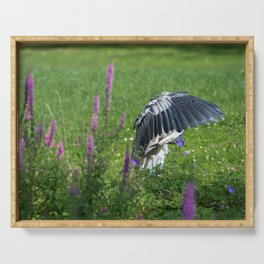 Welcome Heron Serving Tray