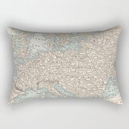 Vintage Map of Europe (1893) Rectangular Pillow