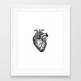 Vintage Heart Anatomy Framed Art Print