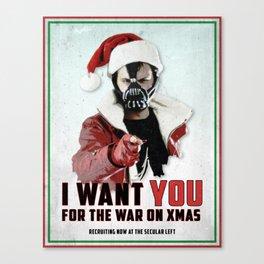 War on Christmas Propaganda Poster Canvas Print