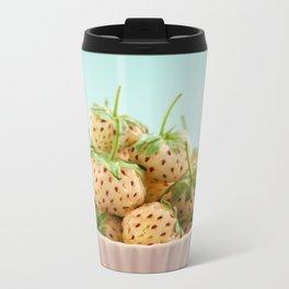 Pineberries in a bowl Metal Travel Mug