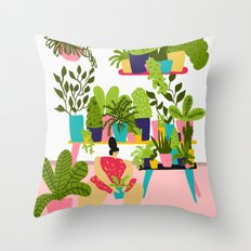 Love Plants Throw Pillow