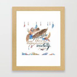 Jane Austen - No Enjoyment Like Reading Framed Art Print