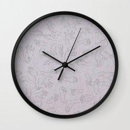 Purple berry Wall Clock