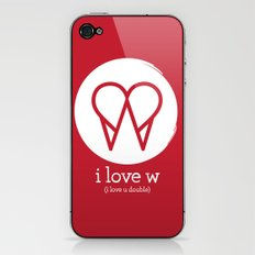 I Love W iPhone & iPod Skin
