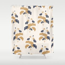 Gold Flower 1 Shower Curtain
