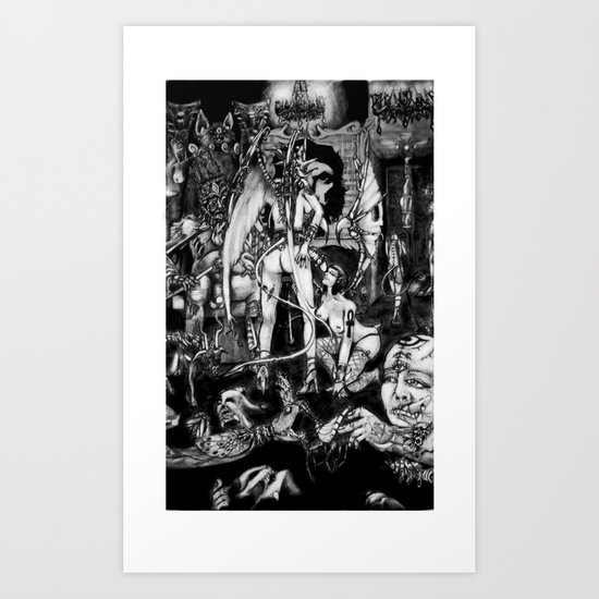 In Hell we are the cockroaches Art Print