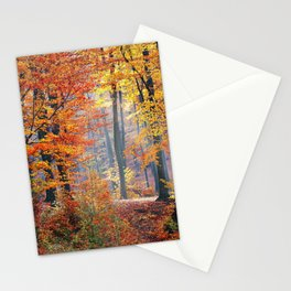 Colorful Autumn Fall Forest Stationery Cards