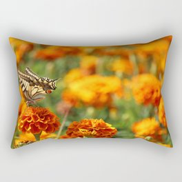 The Butterfly on Carnation Rectangular Pillow
