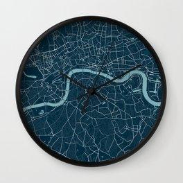 Minimalist London Map Wall Clock