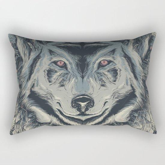A wolf among ravens Rectangular Pillow