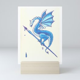 Blue Dragon Art Warrior Mini Art Print