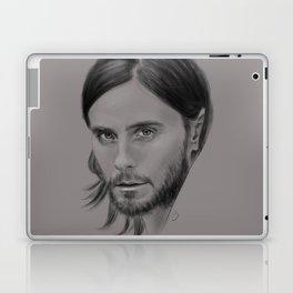 Jared Leto Digital Portrait grey LLFD Laptop & iPad Skin