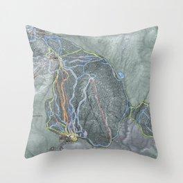 Gore Mountain Trail Map Throw Pillow