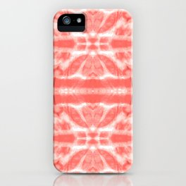Tie Dye Twos Corals iPhone Case