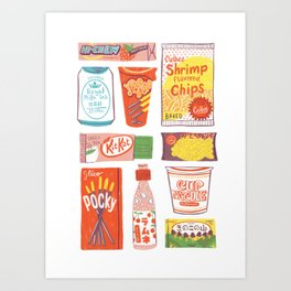 Asian Snacks Art Print