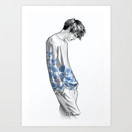 FLOWER BOY TWO: BLUE Art Print