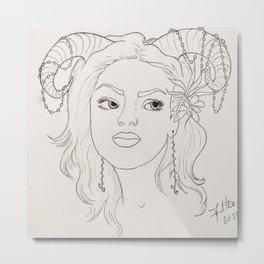 'Sylph Portrait' Metal Print
