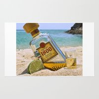 tequila Area & Throw Rugs featuring Tequila! by brocoli art print