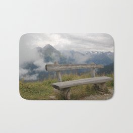 A cloudy day in the Austrian Alps Bath Mat