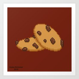 Chocolate Chip Art Print