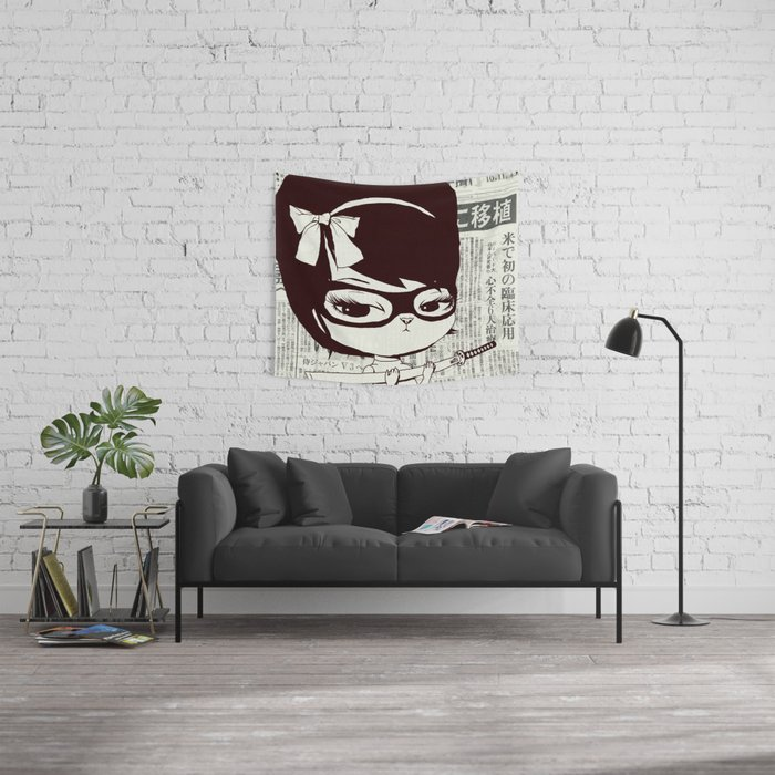 Bakemona-Lisa Wall Tapestry
