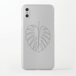 One line monstera Clear iPhone Case