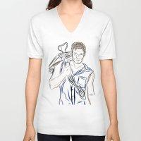 daryl dixon V-neck T-shirts featuring Daryl Dixon by Salina Ayala