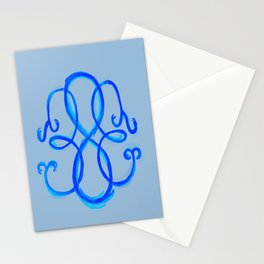 Path Of Life - Blue Stationery Cards