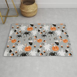Spooky Halloween Spiders/Pumpkin/Ghosts/CandyCorn Rug