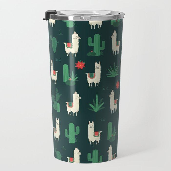 Fleece Navidad and Cactus Travel Mug
