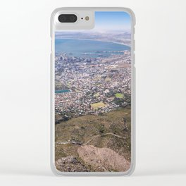 View of Cape Town from Table Mountain in South Africa Clear iPhone Case