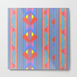 Bold Color Geometric Pattern Metal Print
