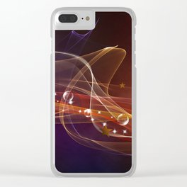 Abstract lines Clear iPhone Case
