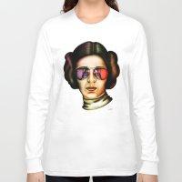 princess leia Long Sleeve T-shirts featuring STAR WARS Princess Leia  by Tom Brodie-Browne