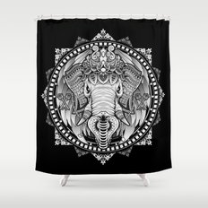 Elephant Medallion Shower Curtain