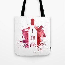 wine bottle Tote Bag