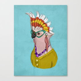 Sophisticated Bird Print Canvas Print