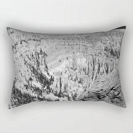 Amazing Bryce Canyon View in Monochrom Rectangular Pillow