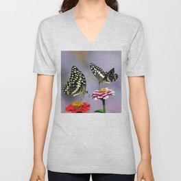 Swallow tail  or Christmas Butterfly Unisex V-Neck